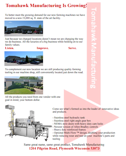 For more information view the Tomahawk Parts Catalog